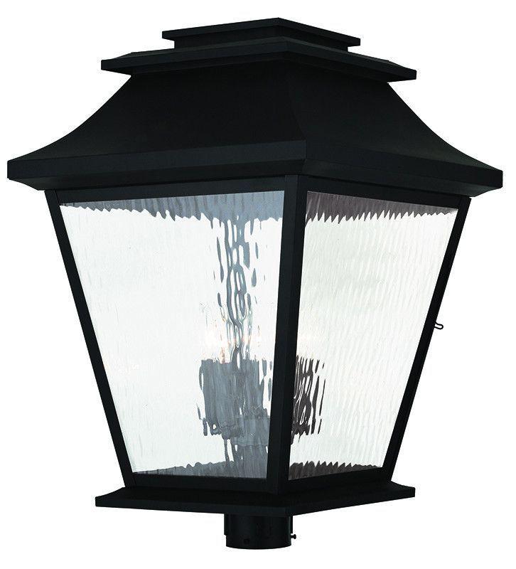 Livex Lighting Hathaway Black Outdoor Post Lantern 20248