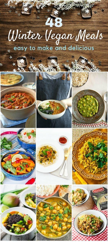 48 Easy Winter Vegan Meals Vegan Vegan Recipes