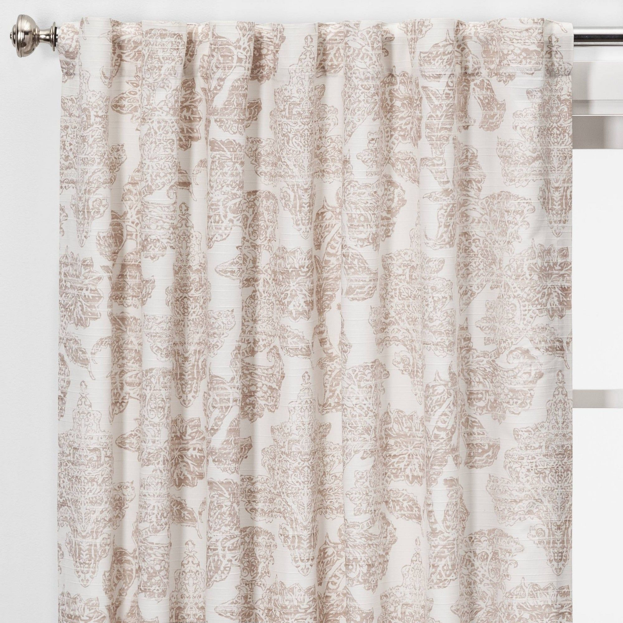 95 X54 Charade Floral Light Filtering Curtain Panel Pink