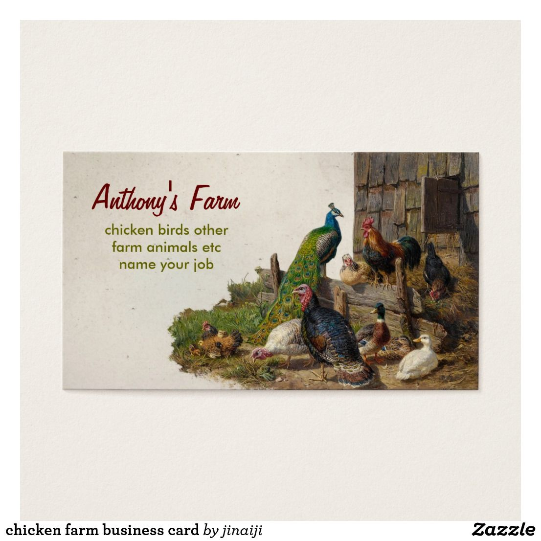 Chicken Farm Business Card Zazzle Com Farm Business Chicken Farm Business Cards