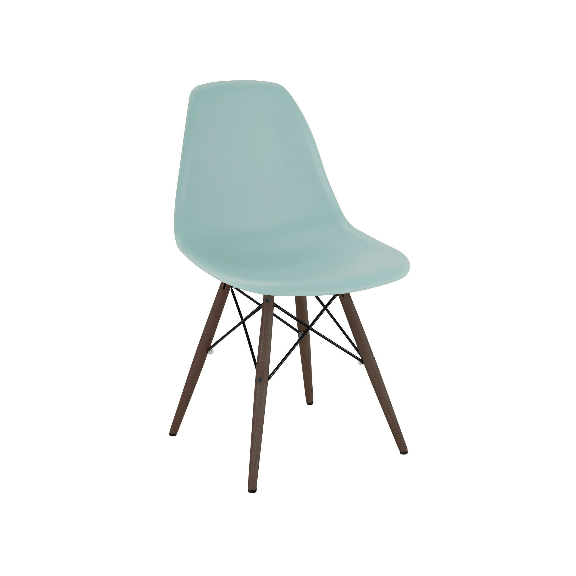 Trige Surfing Mid Century Side Chair with Walnut Base