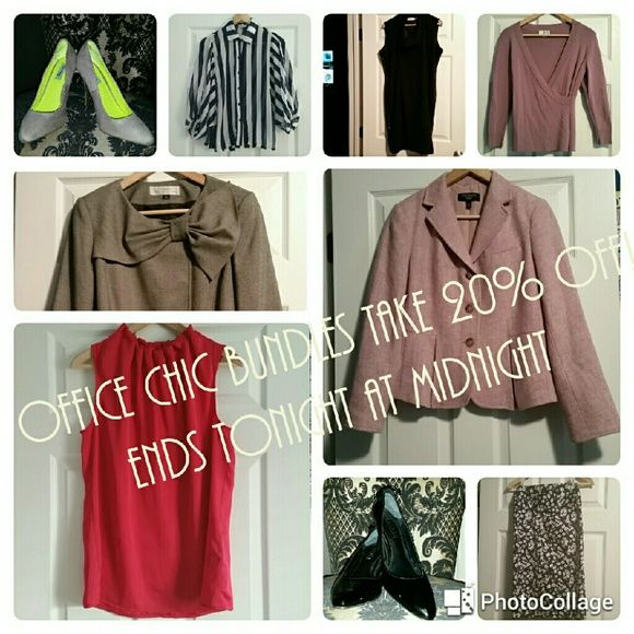 20% OFF of ALL OFFICE CHIC BUNDLES! EXTENDED! 20% OFF of ALL OFFICE CHIC BUNDLES!  Includes: blazers, slacks, button downs, sweaters, skirts, 2 pc suits, etc... Message me if you'd like to bundle something great!!  Ends January 29, 2016 at Midnight! LOFT Pants Trousers