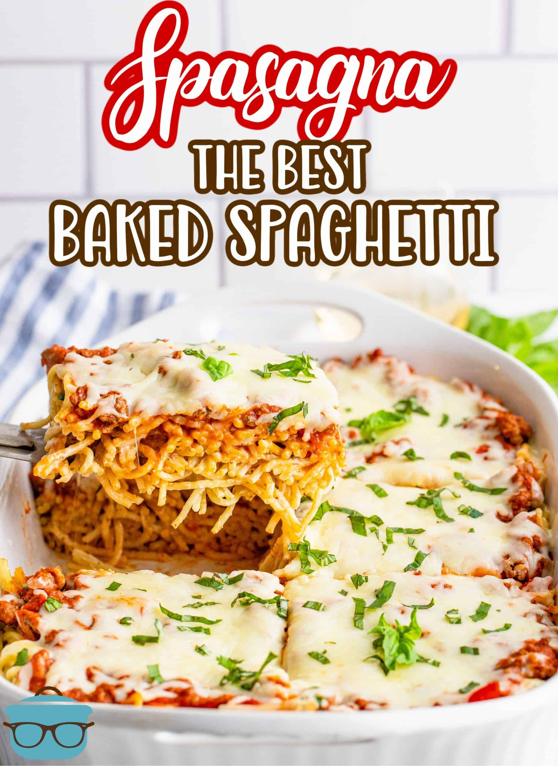 The Best Baked Spaghetti Recipe In 2021 Baked Spaghetti Interesting Food Recipes Easy Supper Recipes