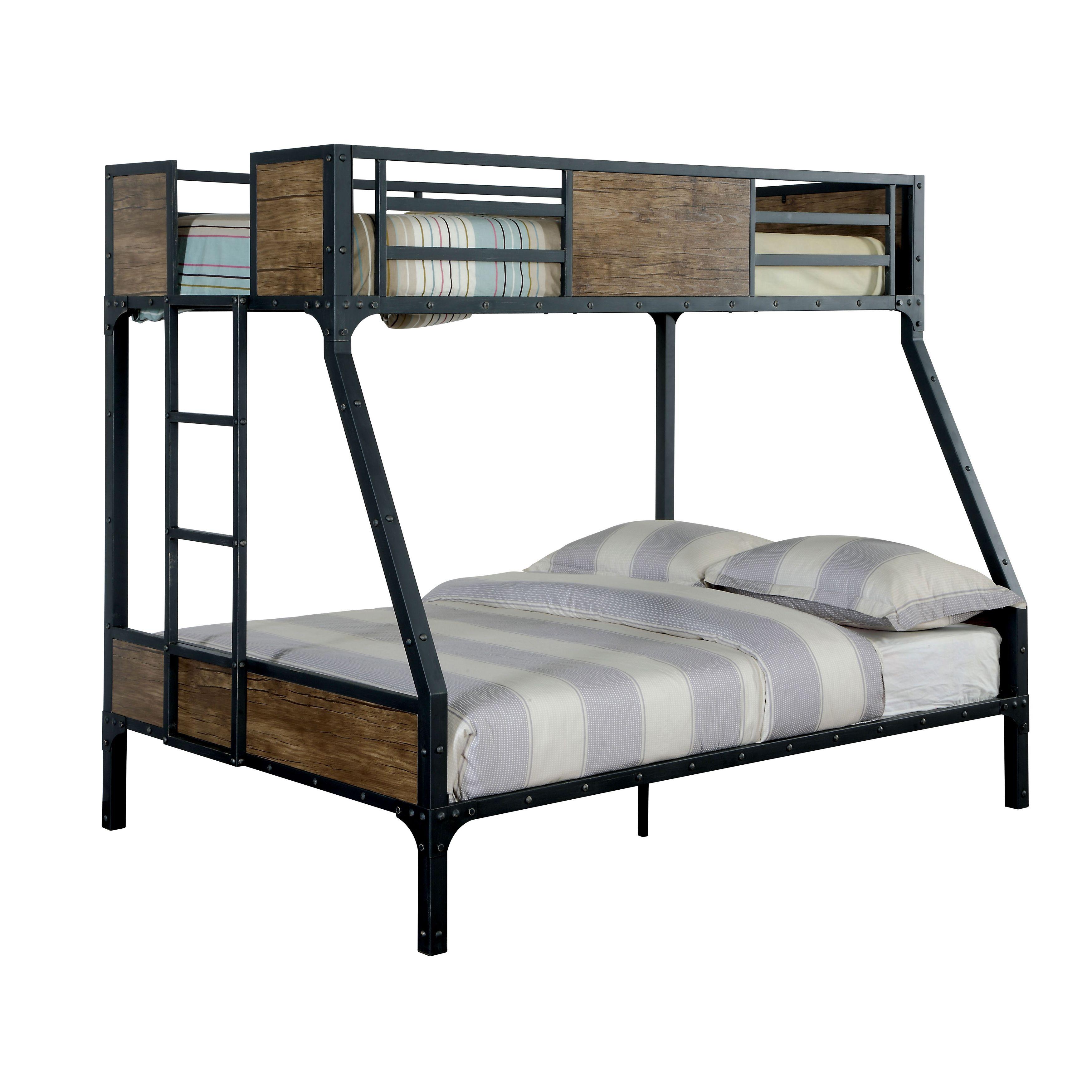 Furniture of America Markain Industrial Metal Bunk Bed
