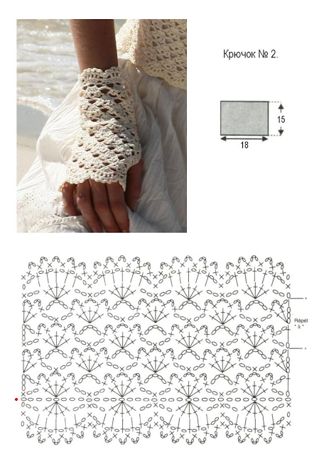 Patrones Crochet: Guantes sin Dedos Ocasion Especial Patron ...