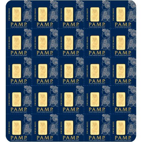 25 Gram PAMP Suisse Divisible Gold Bars (25×1) from JM Bullion™