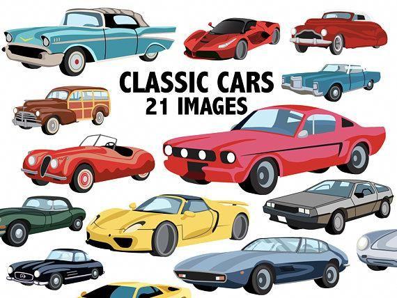 Classic Cars Clipart Car Vector Images Lamborghini Delorean