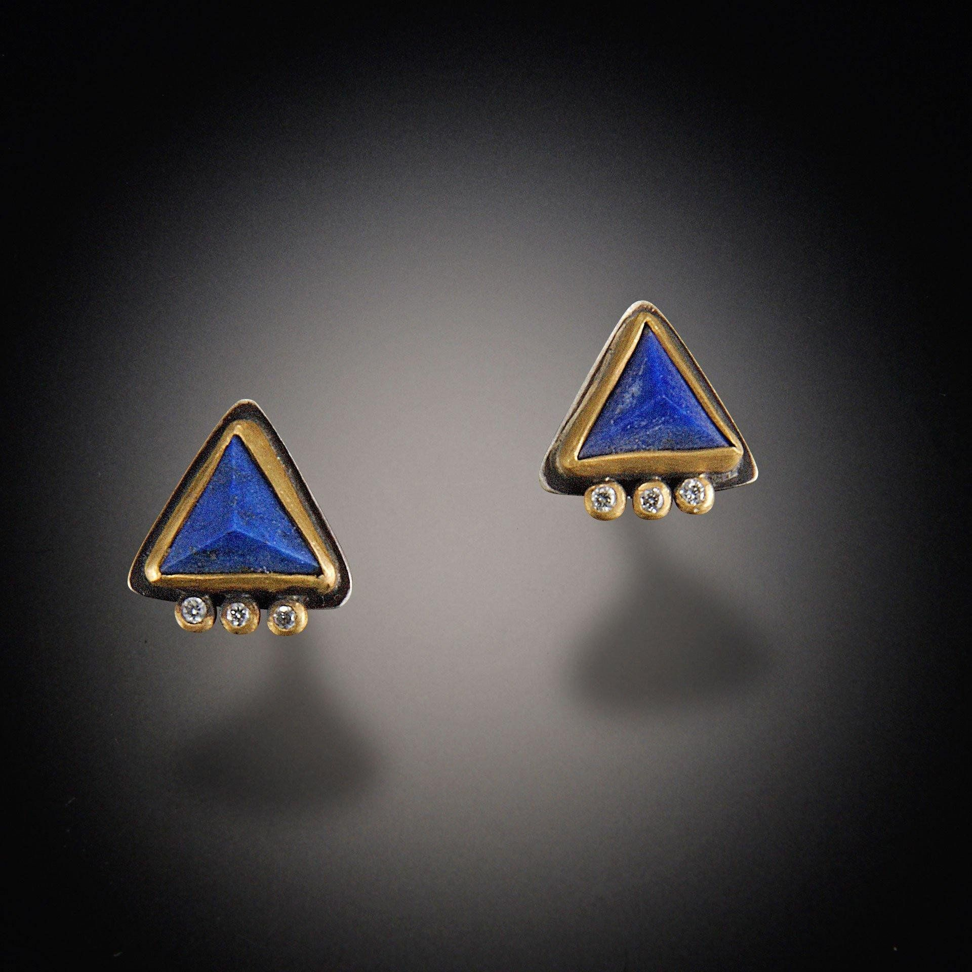 jewellery product earrings zivarish silver stud and anar lapis