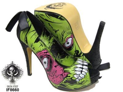 Iron Fist - Zombie Stomper Platform Shoes [IF8660] - £49.99 : Gothic Clothing, Gothic Boots & Gothic Jewellery. New Rock Boots, goth clothing & goth jewellery. Goth boots and alternative clothing