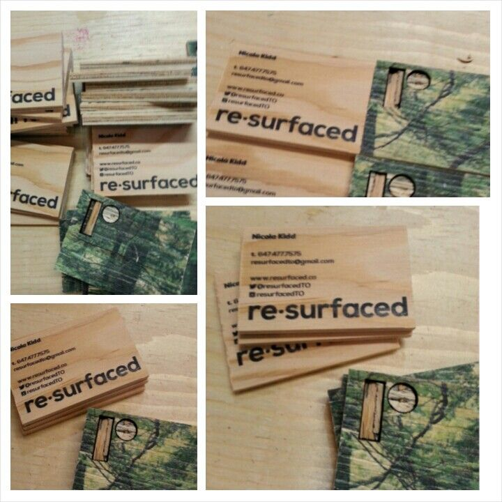 plywood business cards by resurfaced | what we do | Pinterest ...