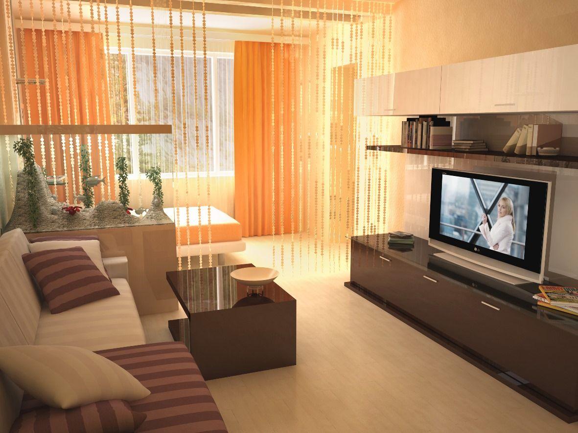 Интерьер разделение комнаты на спальню и гостиную