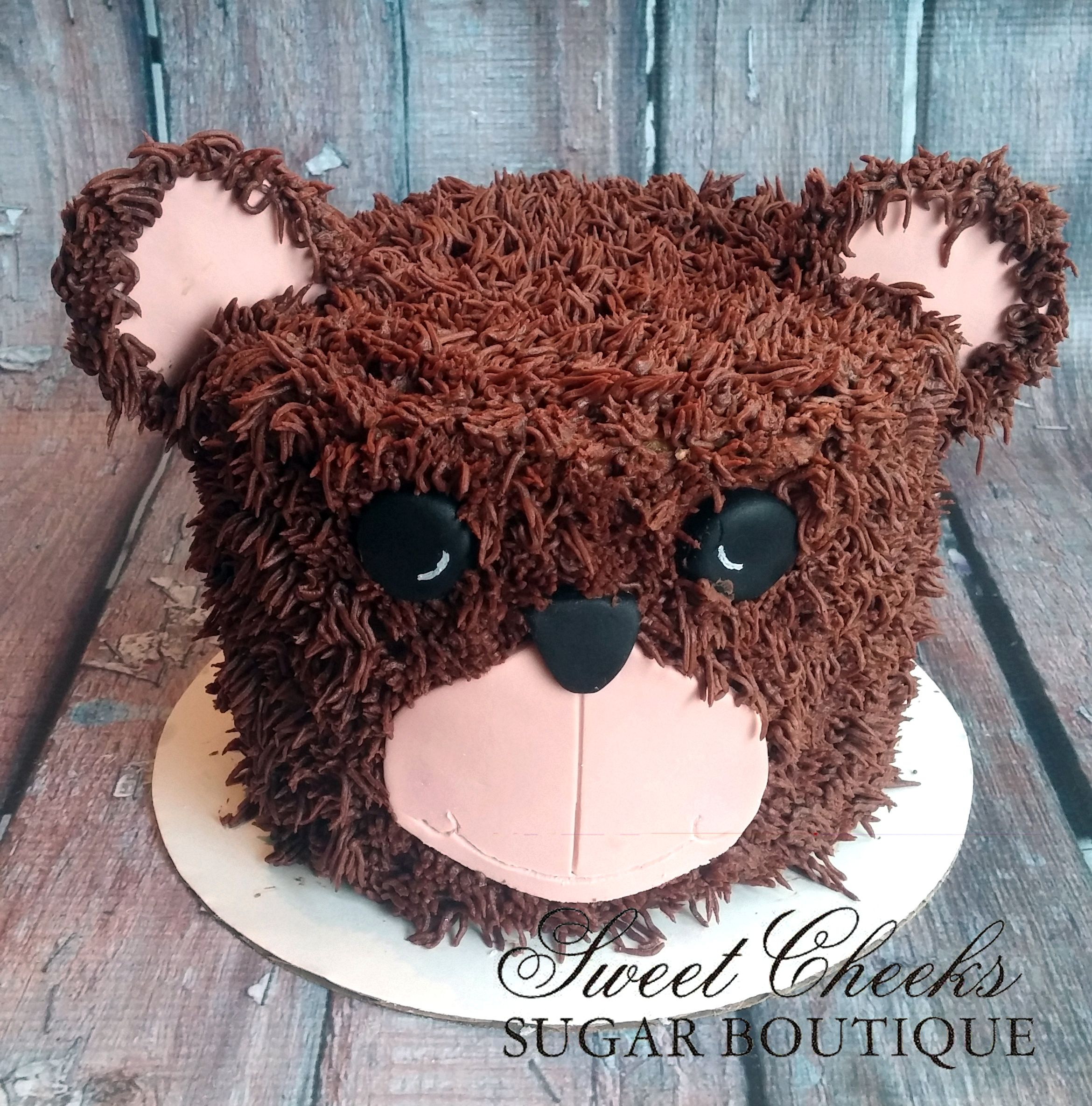 A Bear Smash Cake For A Camping Themed First Birthday
