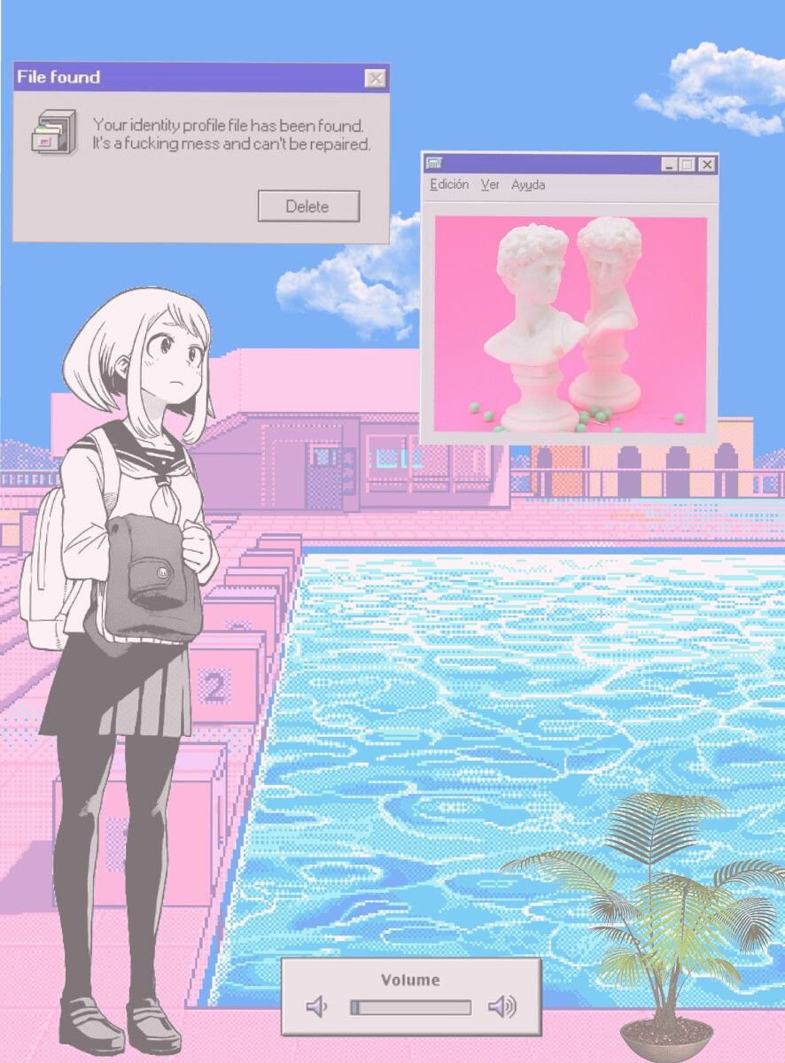 AESTHETIC VAPORWAVE ANIME IMAGE Vaporwave wallpaper