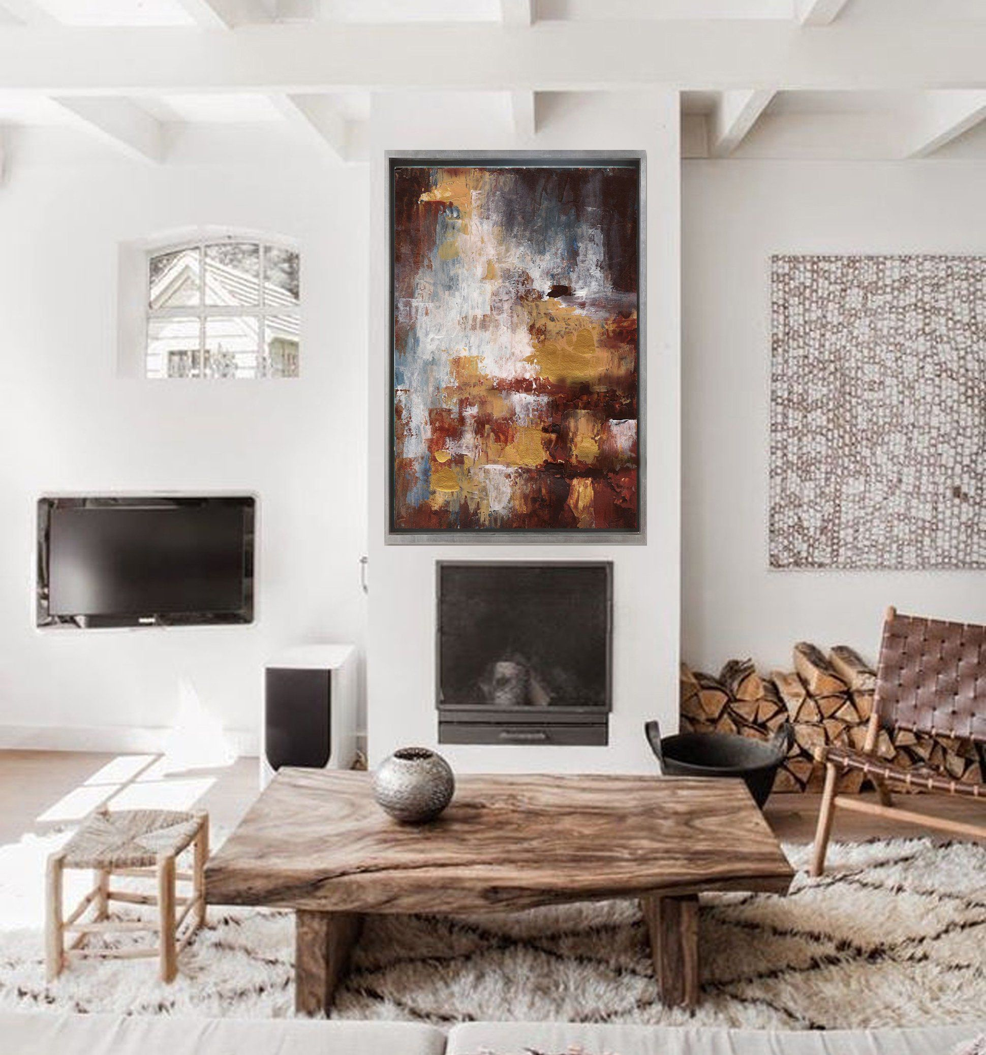 abstract art large original painting on canvas oversize on modern acrylic paintings for living room id=81525