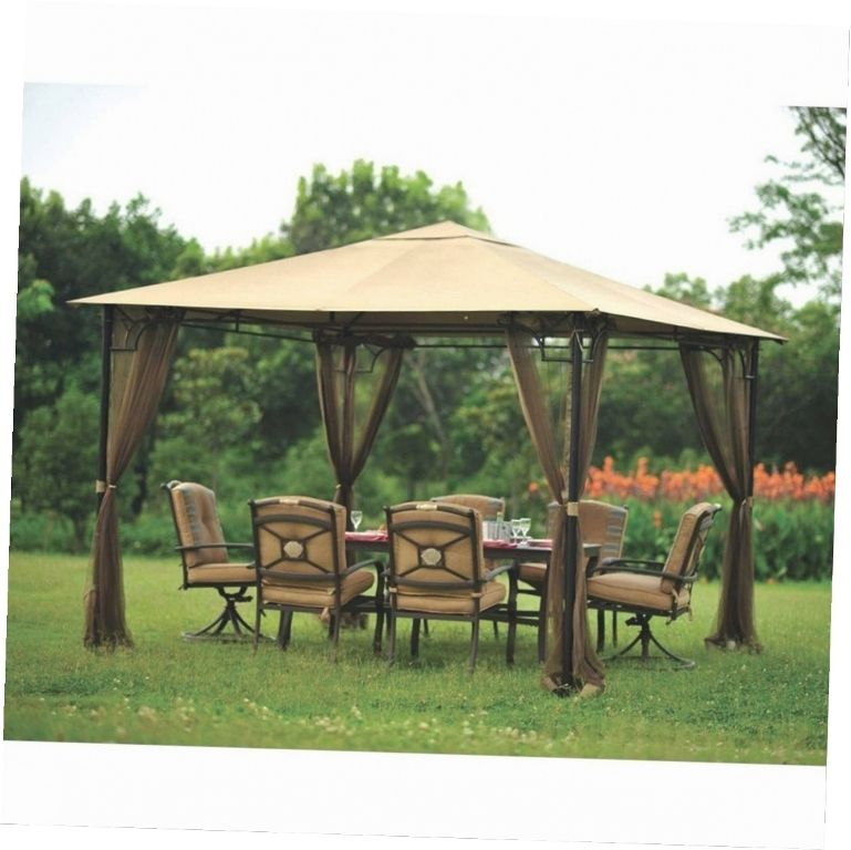 Exterior Great Outdoor Gazebo With Shelves And Gardens Lawrence Portable Patio Gazebo Portable Gazebo Replace Backyard Gazebo Gazebo Pergola Outdoor Gazebos