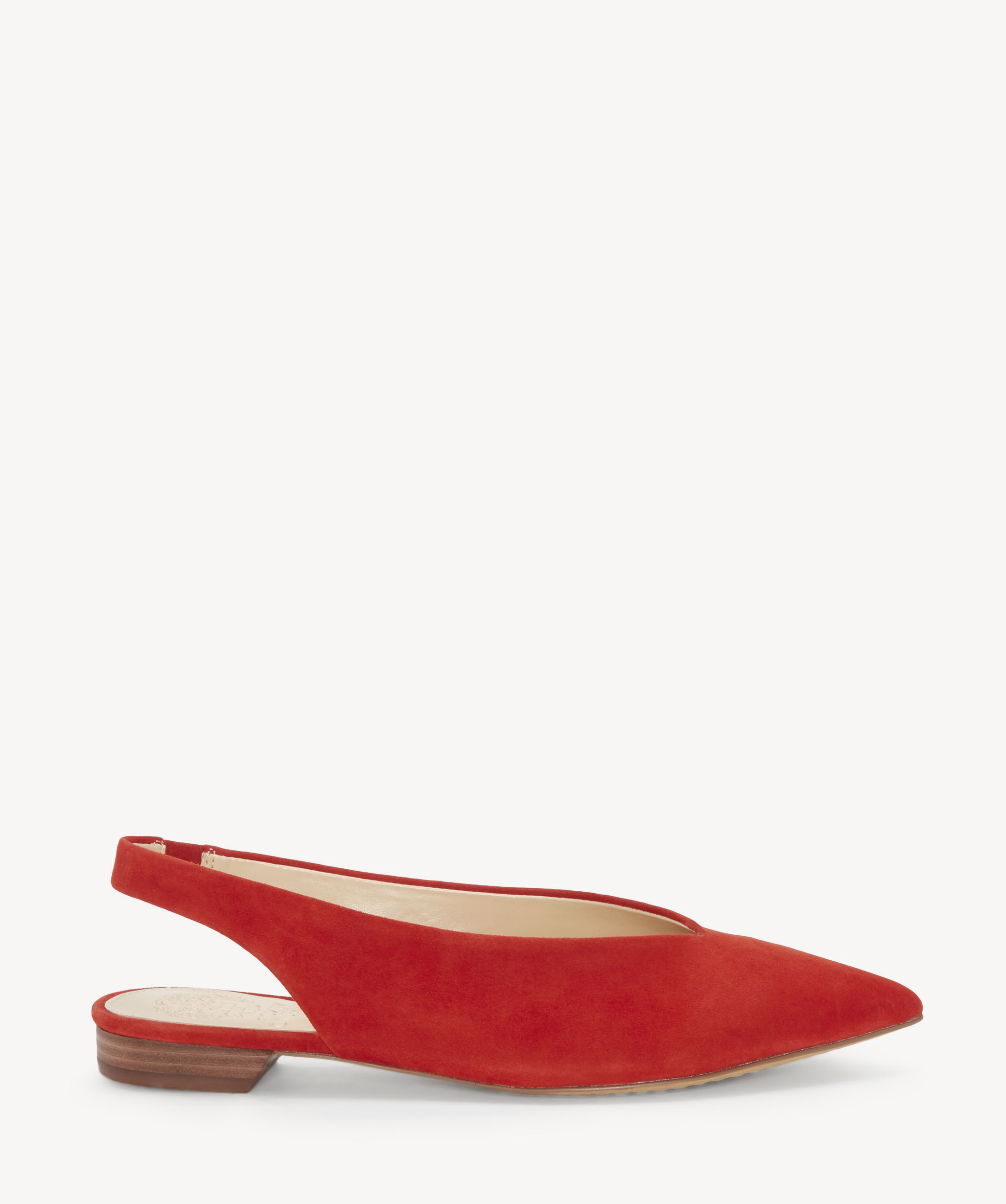 d761f033fff1 Vince Camuto Women s Maltida Slingback Flats In Color  Red Hot Rio