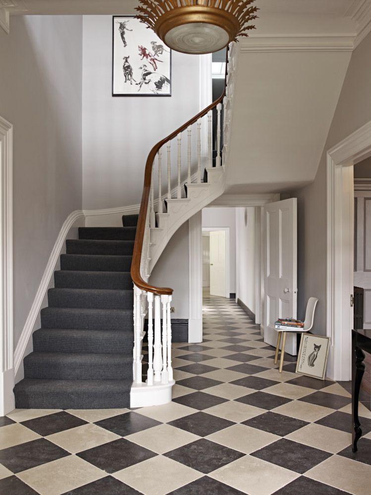 Vintage Modern - Victorian chequerboard pattern floor tiles | Sapphire Spaces - Image Alt