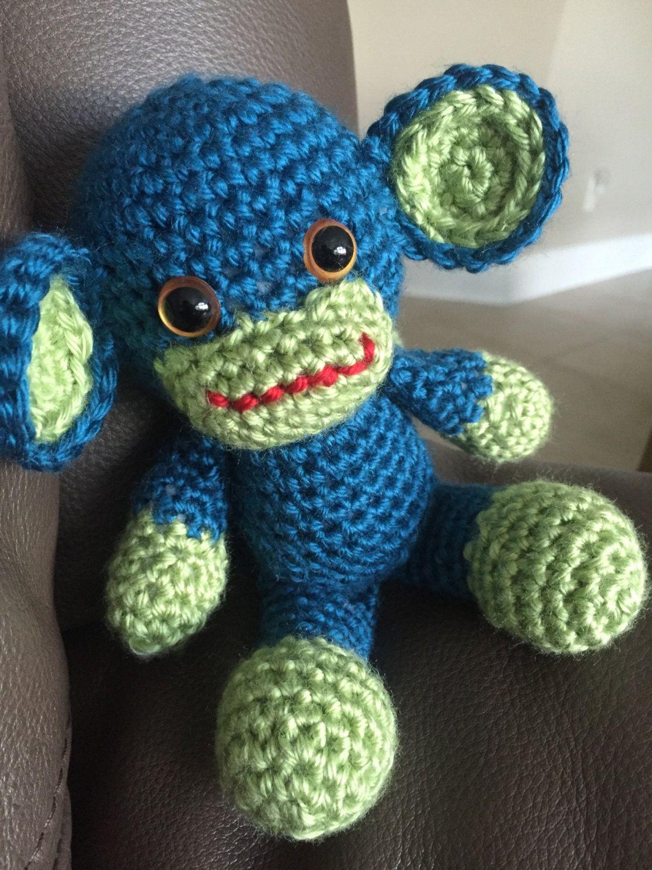 Crochet Monkey, Amigurumi Monkey, Baby Safe Animal