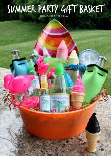 Summer party gift basket dollar stores creative and gift do you never know what to bring for a summer hostess gift here is a negle Choice Image