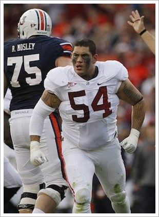 Jesse Williams Defensive Lineman For Alabama Benches 600 Lbs