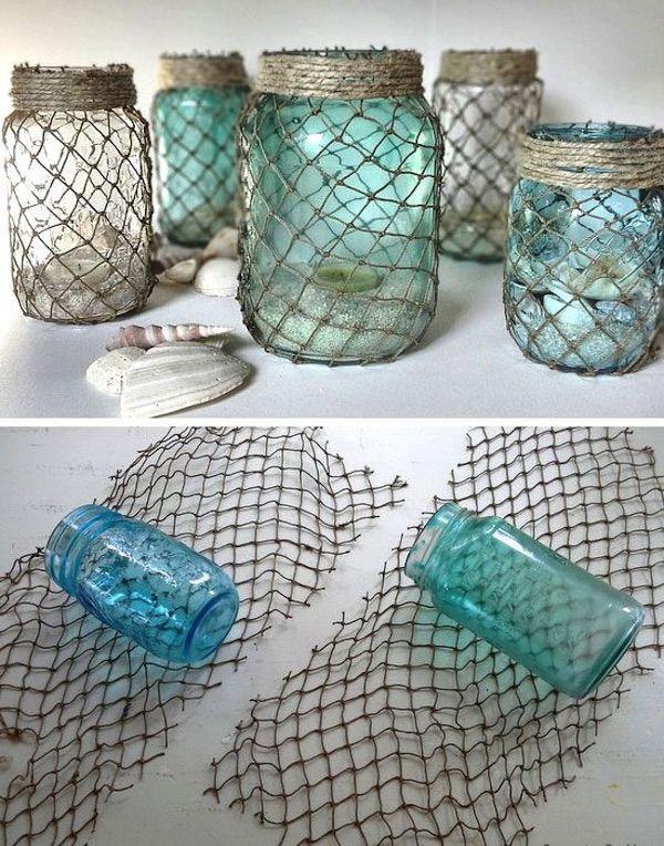 adornos con botellas de vidrio 6 - Vivir Creativamente