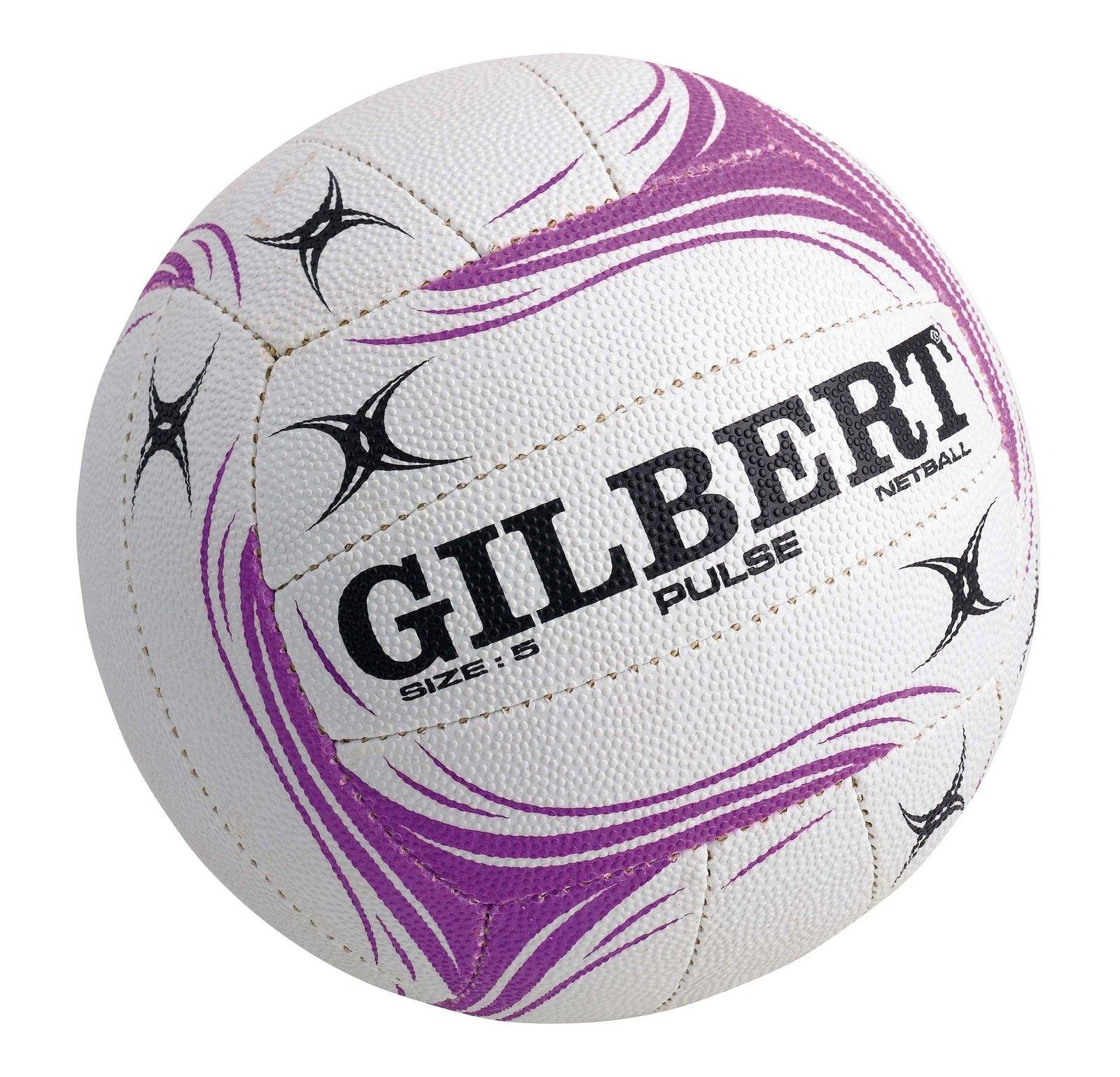 Gilbert Pulse NetballWhite (Size 4) in 2020 Netball