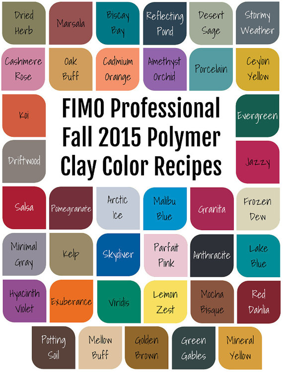 FIMO Professional Fall 2015 Polymer Clay Color by craftsbychris