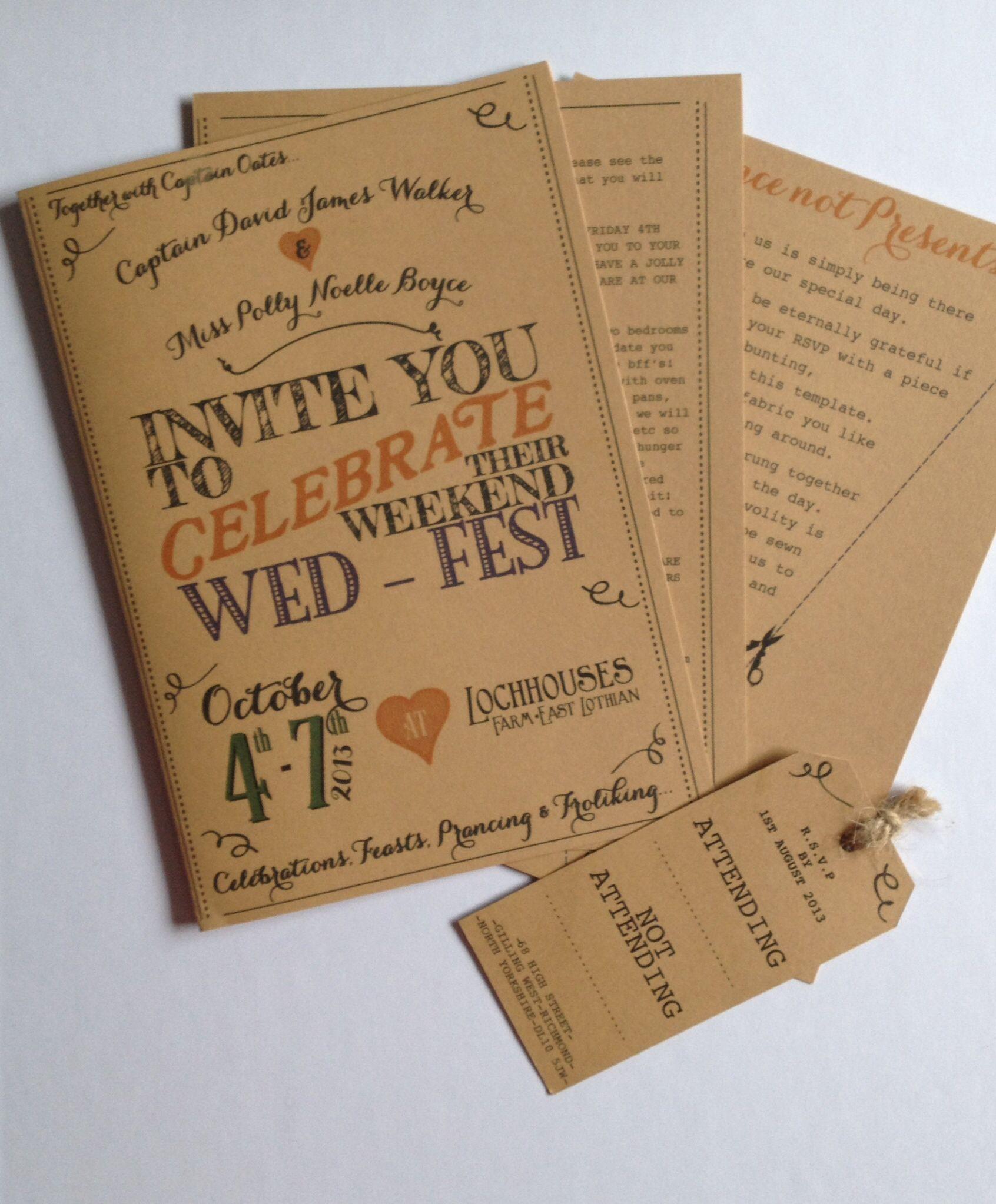 Wedding Invites Scotland: Wed-Fest: Wedding Invites For Autumnal Scottish Beach