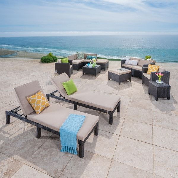 Puerta Outdoor 13 Piece Wicker Patio Set With Cushions By Christopher  Knight Home | Outdoor Patio | Pinterest | Patios And Bed Furniture