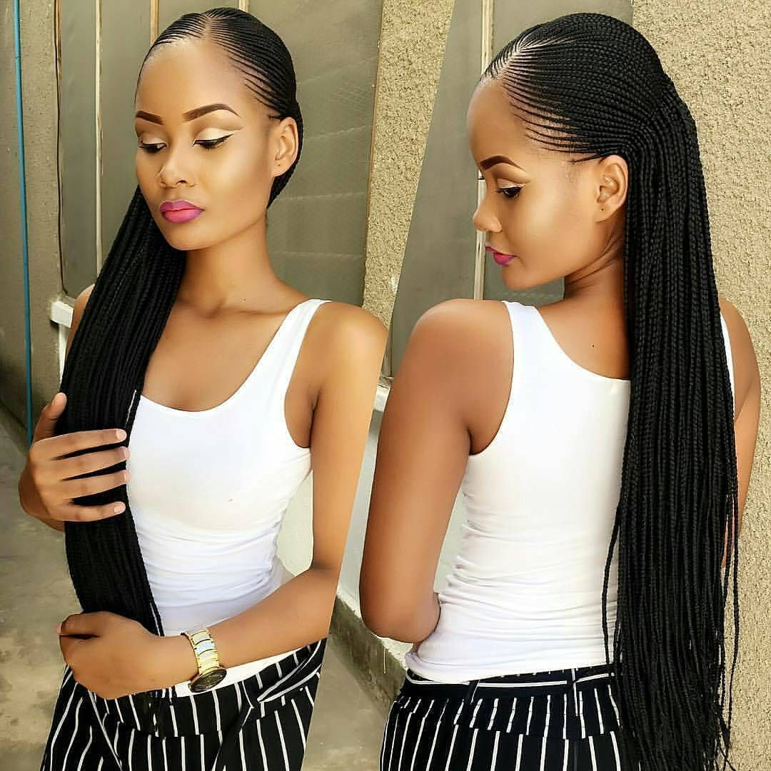 Stunningly cute ghana braids styles for cornrows protective