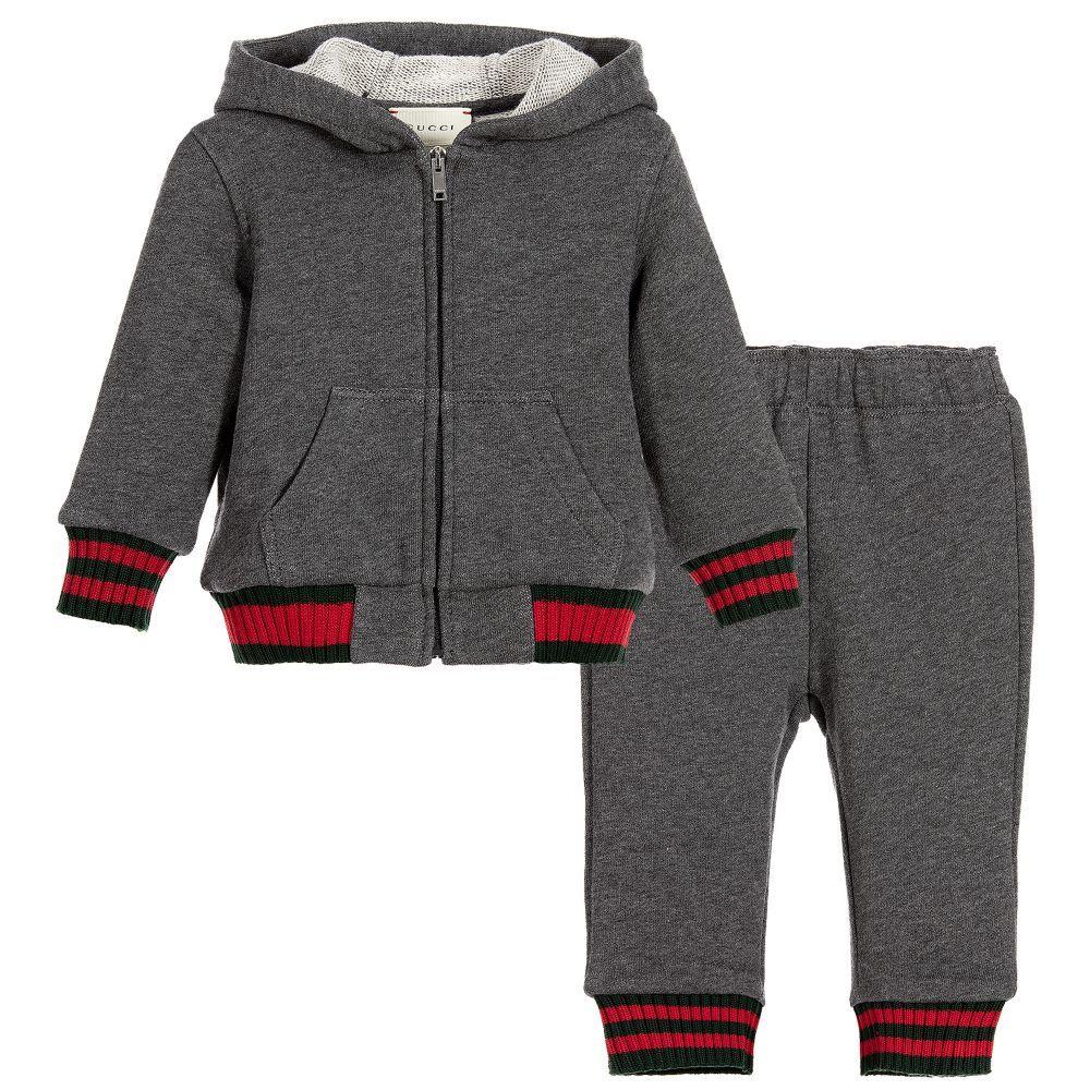 e70eed2a6de22b Gucci - Baby Boys Grey Cotton Tracksuit