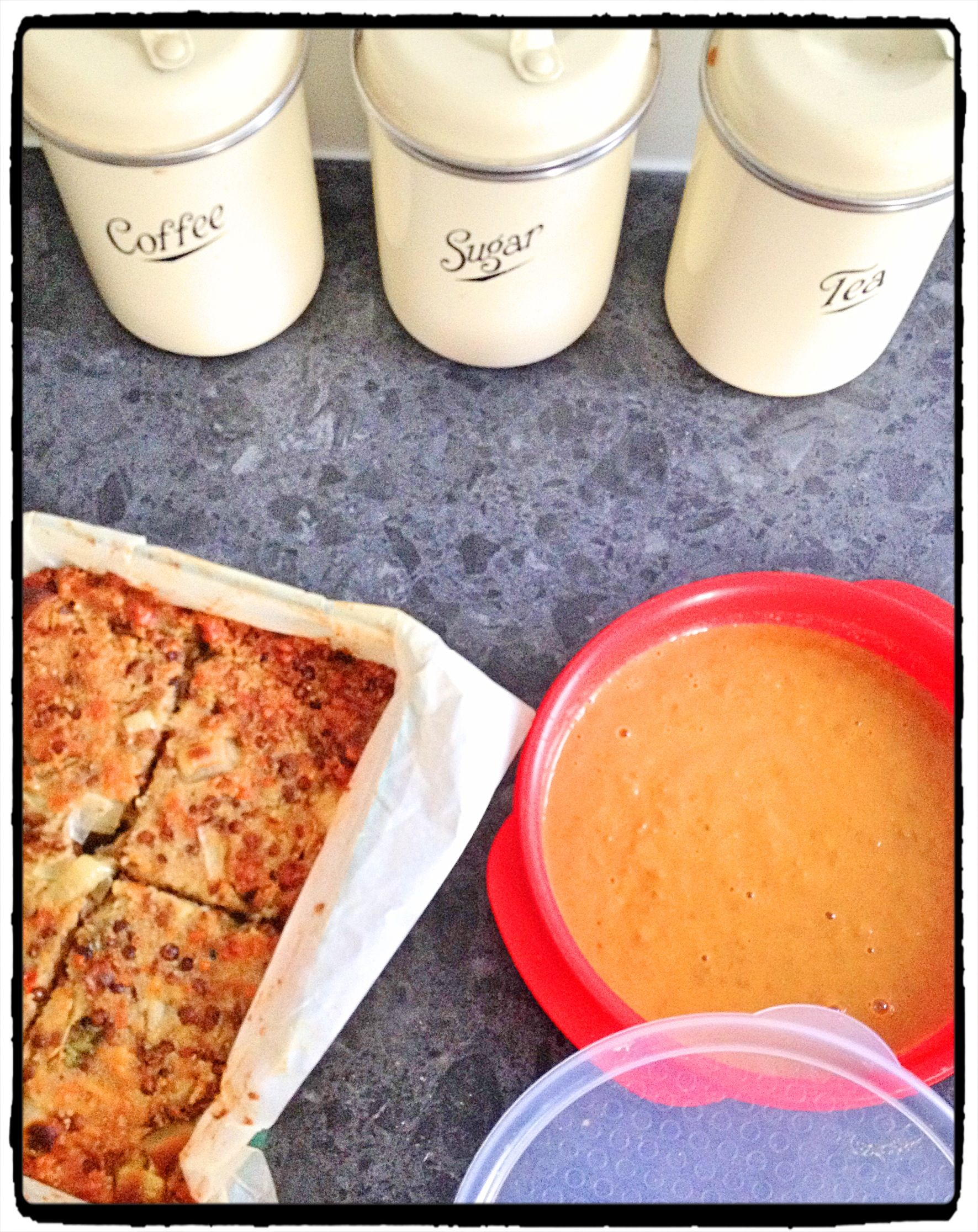 Cooking Sunday! Lentil loaf (I added cous cous), Michelle Bridges 12wbt recipe. Spiced creamy lentil soup, Clickfit recipe.