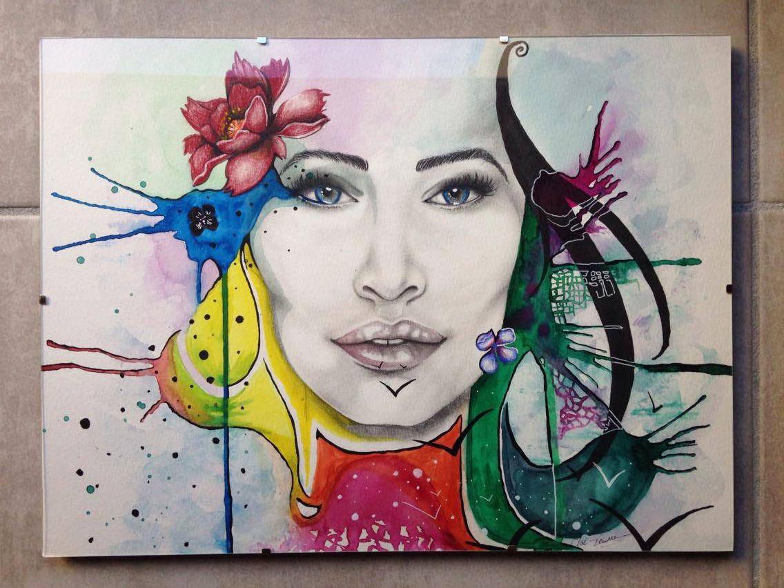 Aquarelle Originale Des Reves Plein Les Yeux Peintures Par