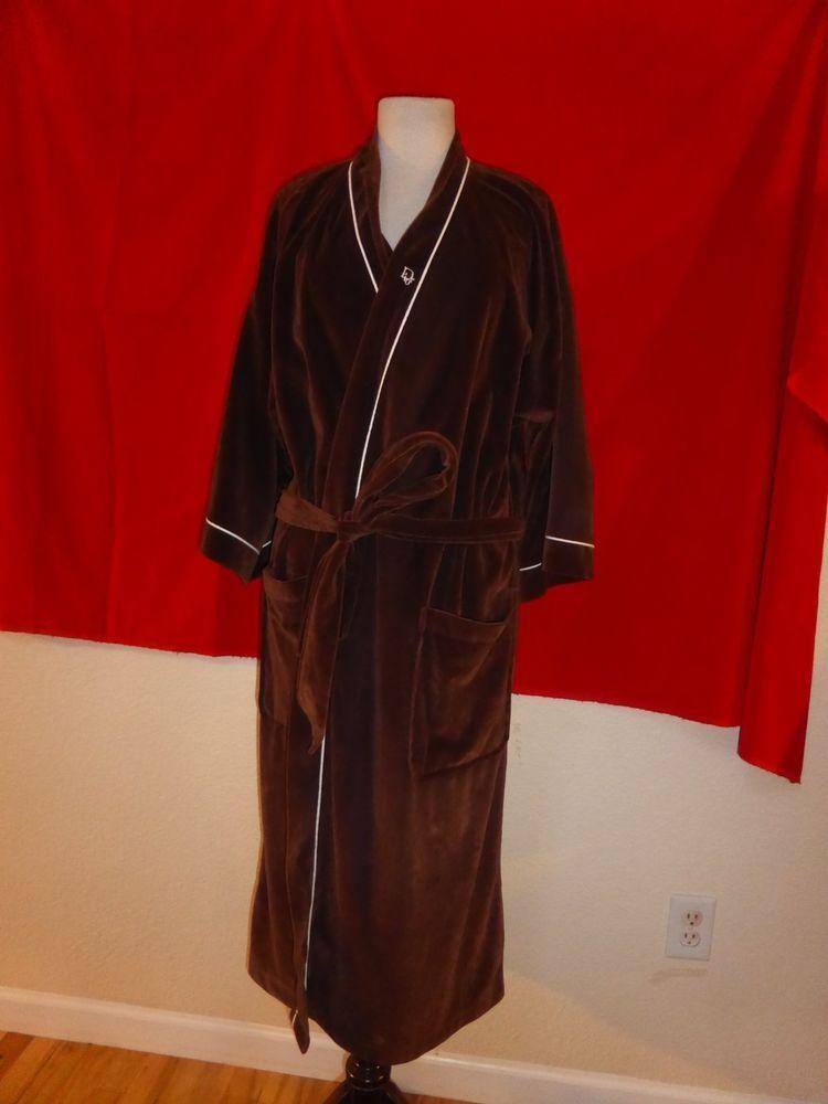 a0220cb707 Vintage Christian Dior Monsieur 100% Arnel Brown Mens Robe One Size   ChristianDior  SmokingRobe