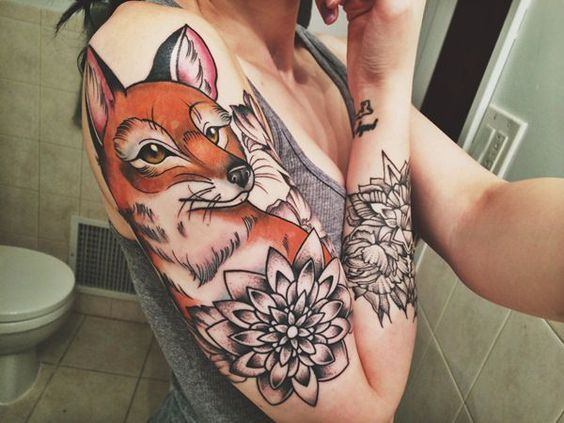 20 Stunning Fox Tattoos For Women Men With Images Fox Tattoo Fox Tattoo Design Tattoos For Guys