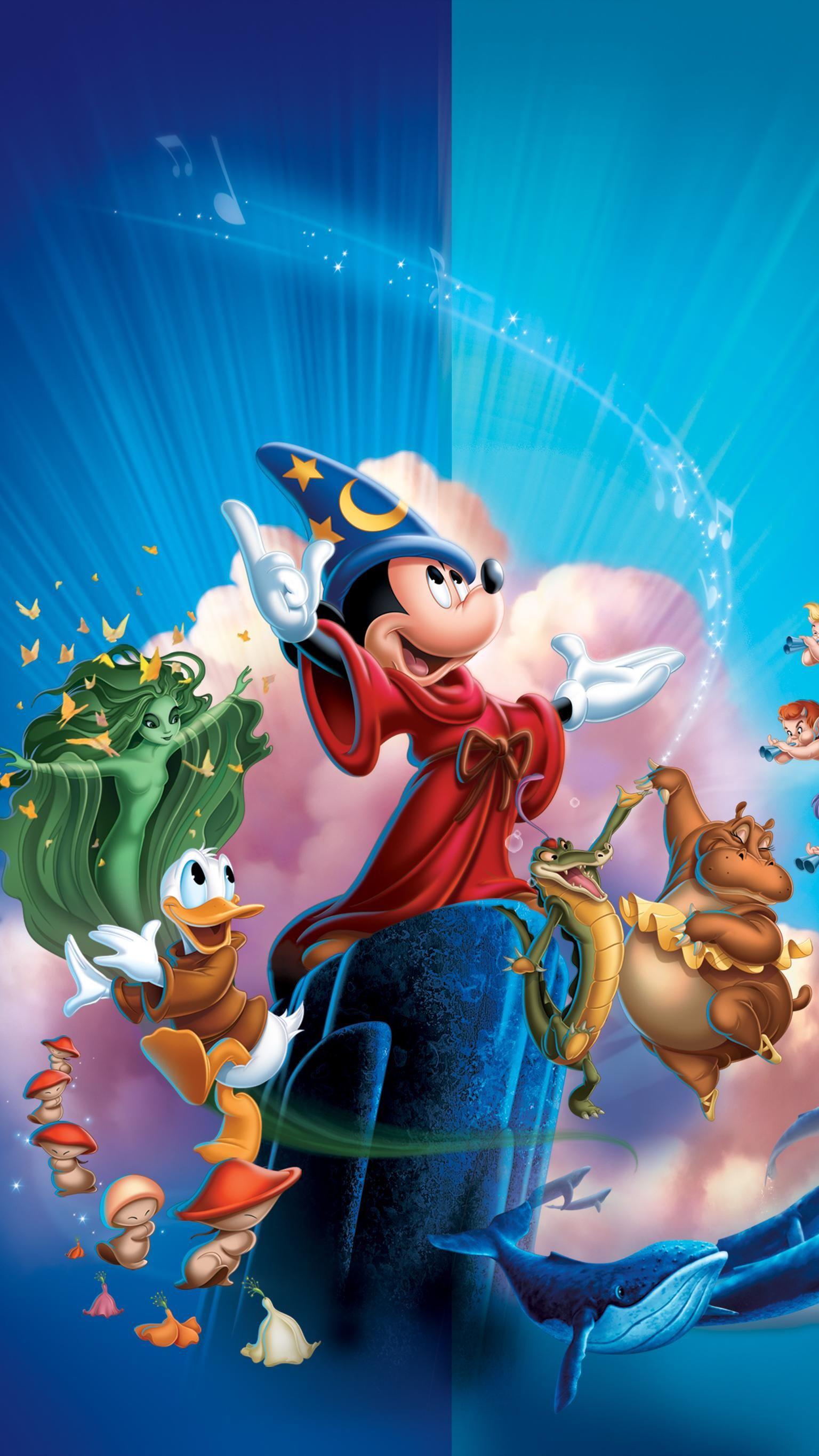 Fantasia 2000 (1999) Phone Wallpaper in 2020 Mickey