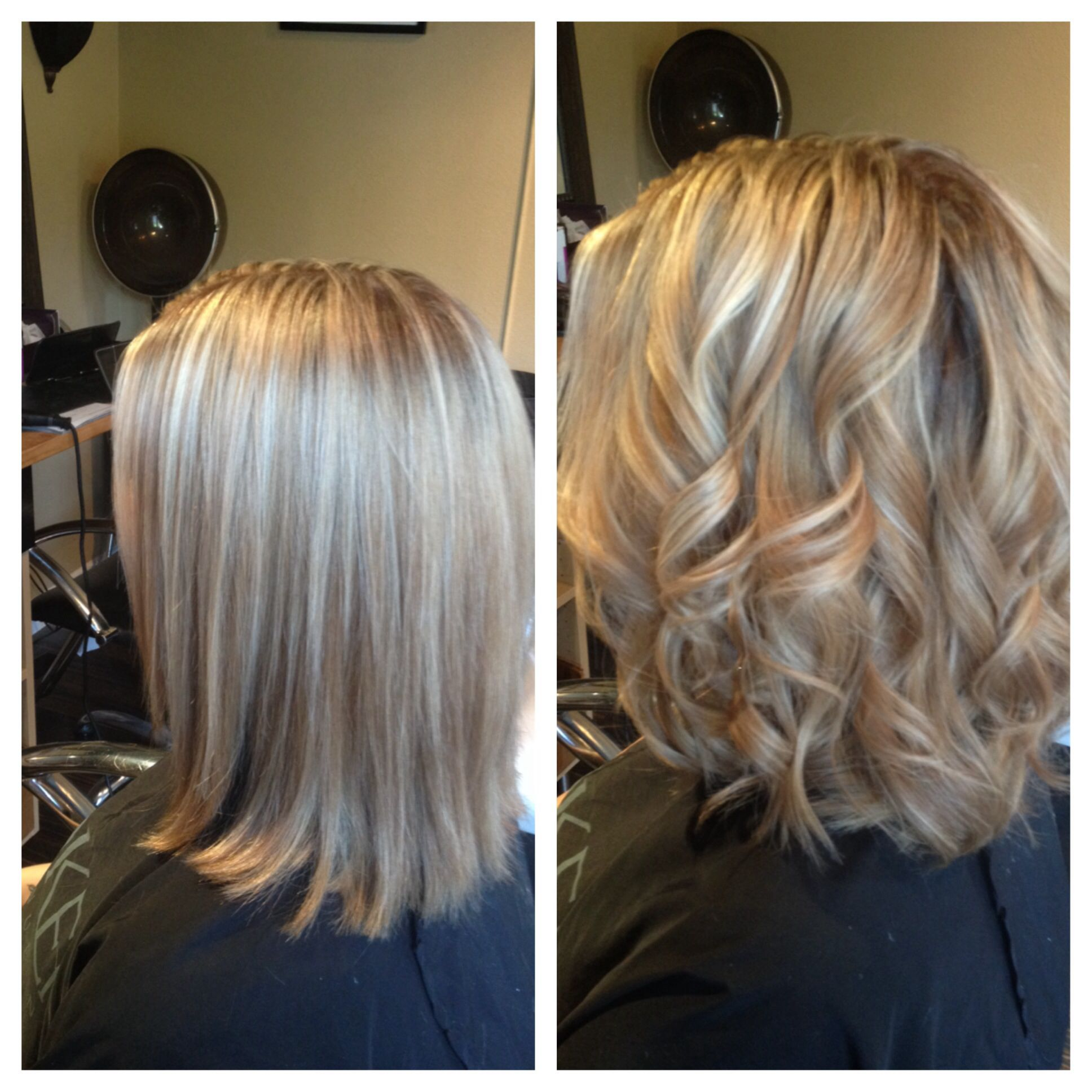 Straight Or Curly Amazing Color Highlights And Lowlights