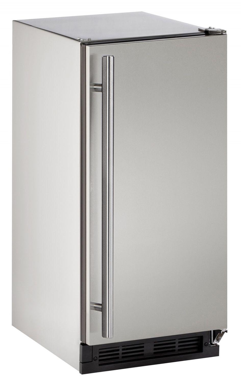 U Line 15 Stainless Steel 1000 Series Ice Machine Outdoor Refrigerator Stainless Steel Cabinets Solid Doors