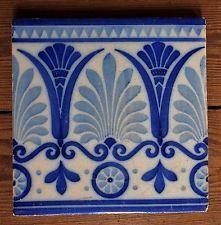 fliese 20 x 20 handbemalung jugendstil modernisme rarität   art deco pattern, art nouveau tiles