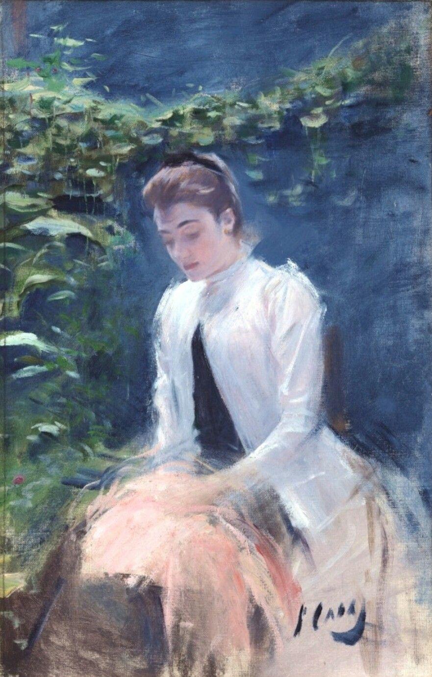 White Lady Ramon Casas i Carbó (1891) Spanish art, Art