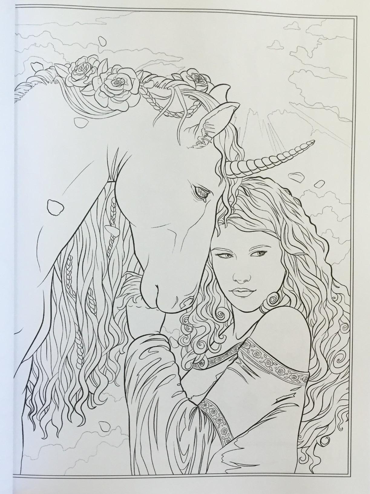 Gothic   Dark Fantasy Coloring Book Fantasy Art Coloring ...