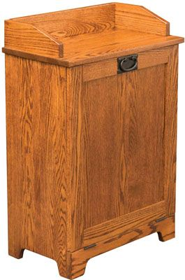 Mission Tilt Out Trash Bin Solid Wood Custom Can