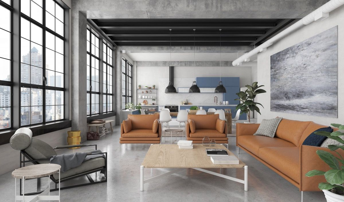 Best 2019 Industrial Modern Living Room Design Best Paint For 400 x 300