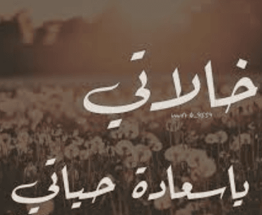 صور عن خالتي Quotes Arabic Calligraphy