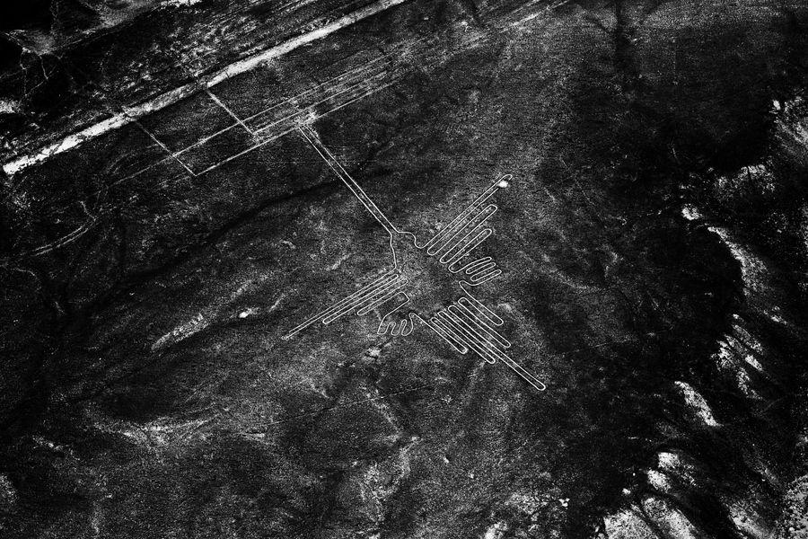 Hummingbird Nazca Lines, Peru. UNESCO World Heritage