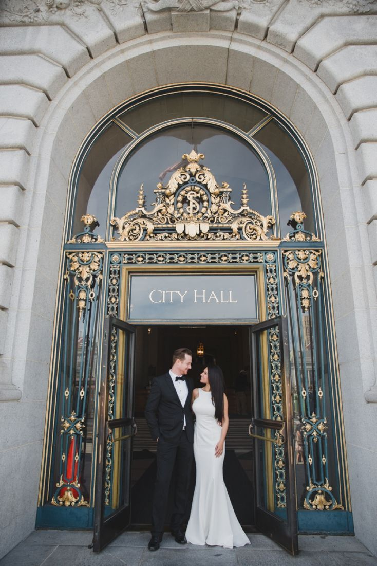 Intimate San Francisco City Hall Wedding By Lily Ro Photography The Black Tie