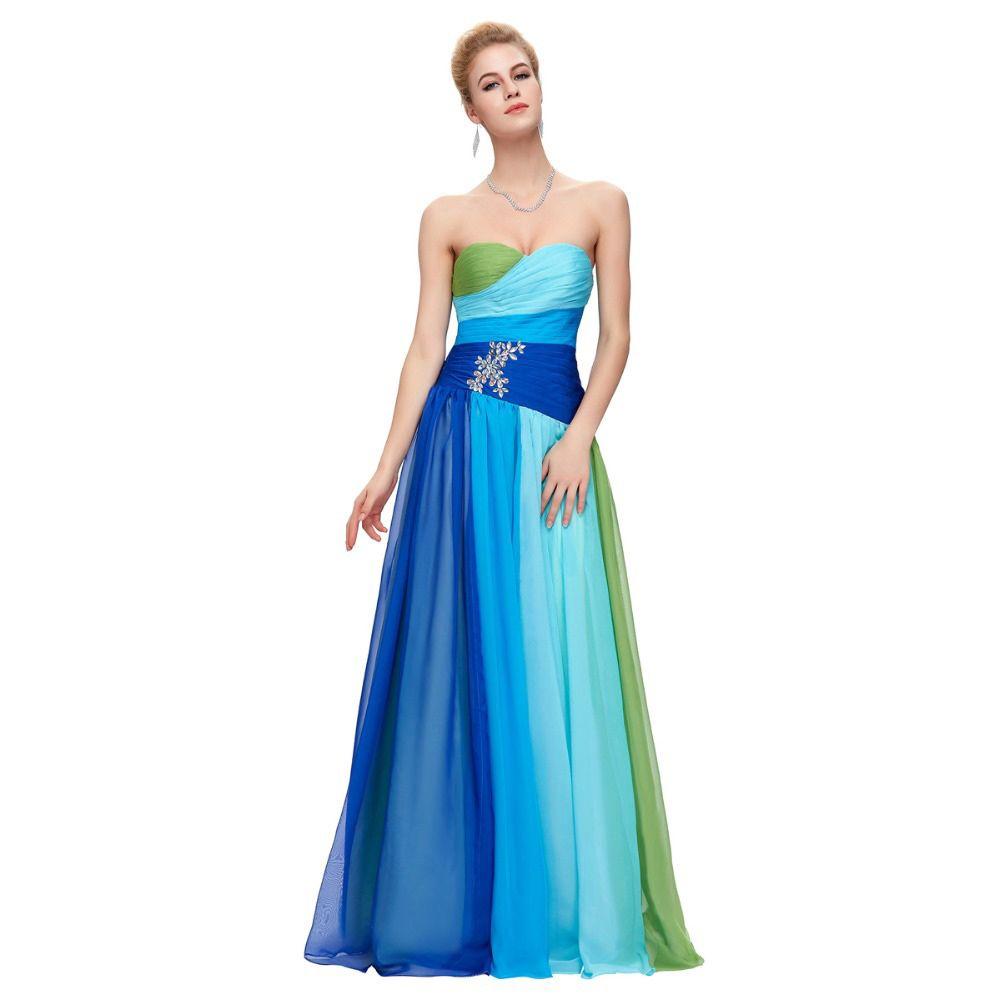 Elegant long evening gowns chiffon formal dresses new evening