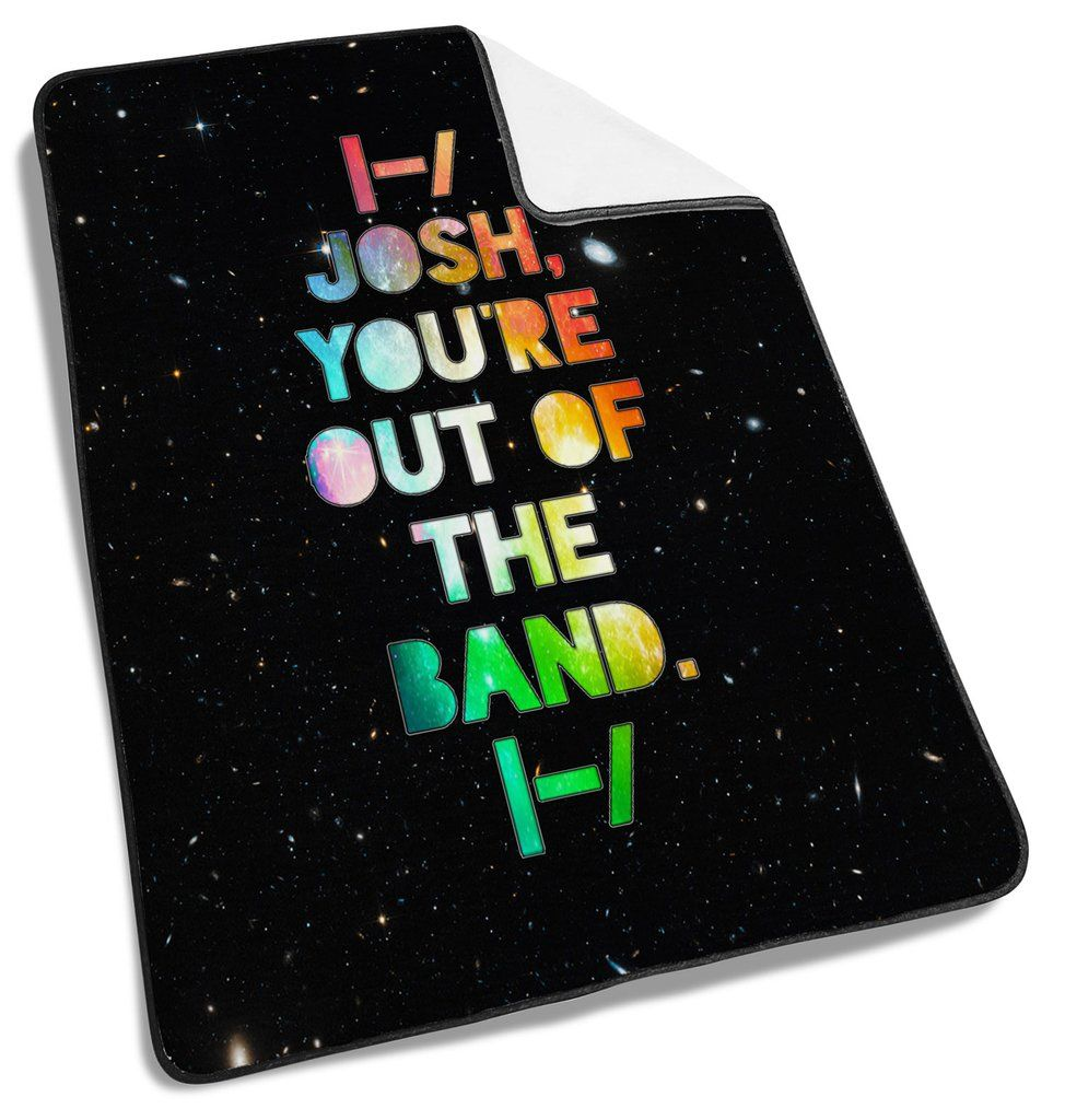 Color printing quotes -  One Pilots Quotes Galaxy Blanket Only For You Specifications All Blankets Are White Colored With Black Satin Trim Photo Collage Full Color Printing