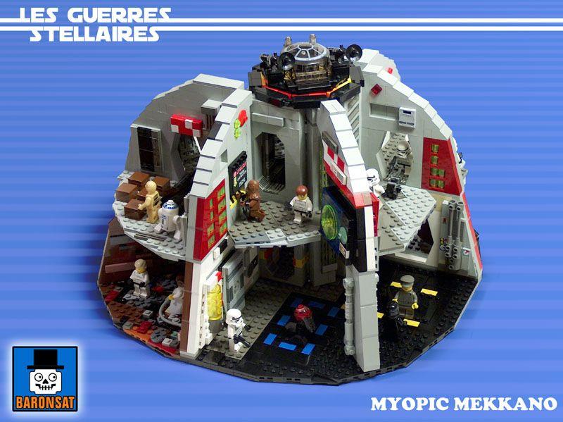 Palitoy cardboard Death Star in LEGO!