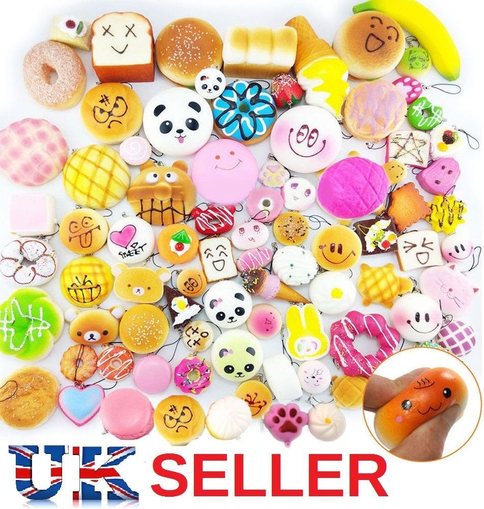 2ec41fe56 Jumbo Slow Rising Squishies Scented Charms Kawaii Squishy Squeeze Toy  Keychain